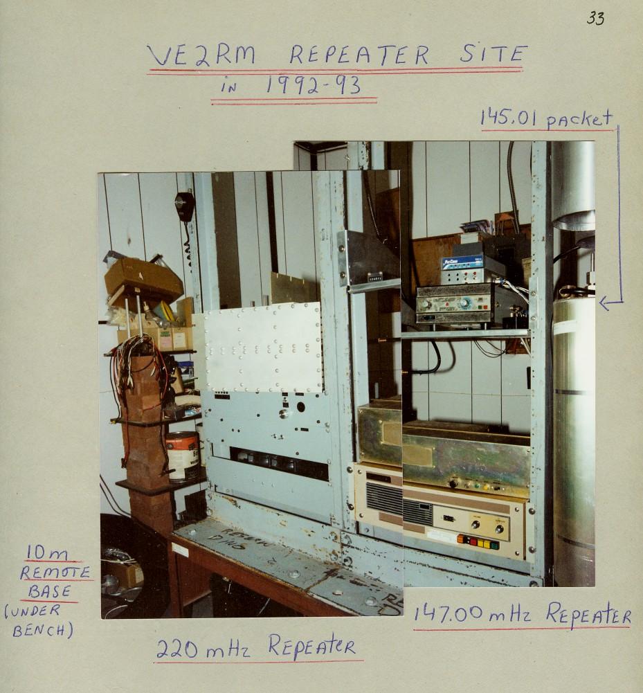 Repeater site in 1992-93